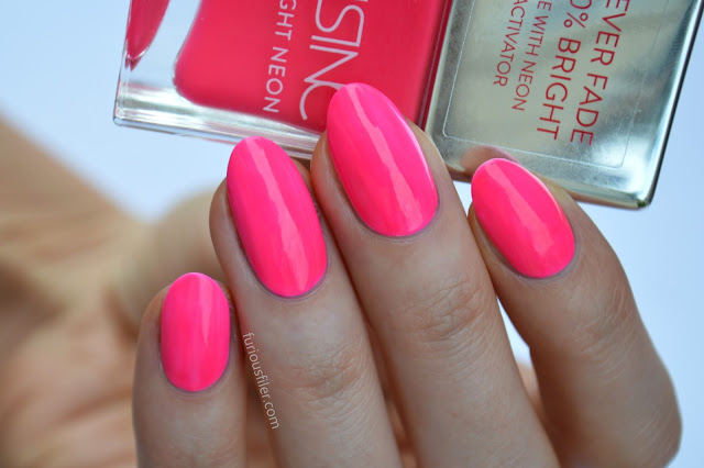 nails inc claridge gardens pink neon furious filer