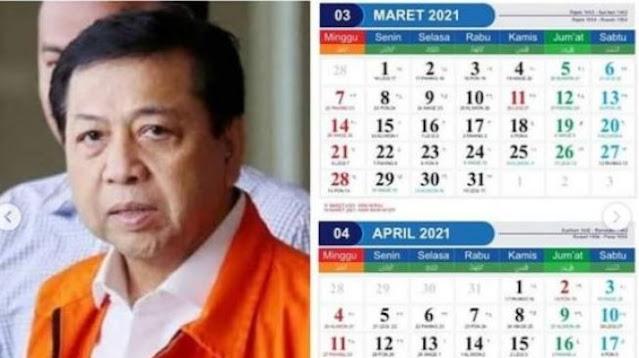 Viral Kalender 2021 Pakai Wajah Koruptor, Warganet: Belinya di Mana ya?
