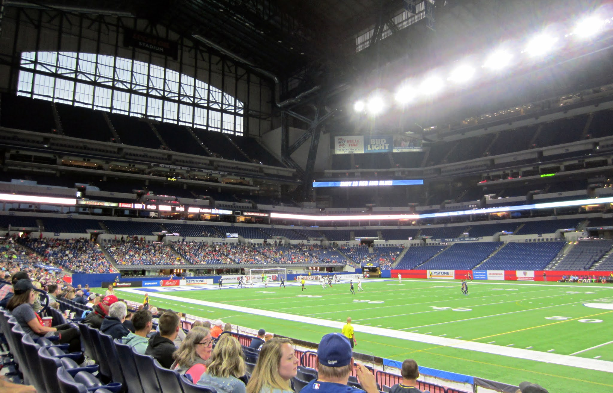 A look at the South Goal section at Lucas Oil Stadium