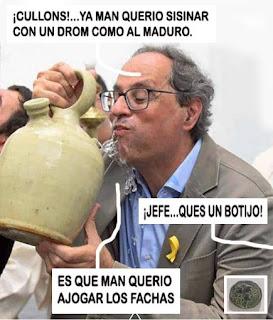 Cullons ! Ya man querío sisinar con un drom como al Maduro. Jefe, que es un botijo. Es que man querío ajogar los fachas.