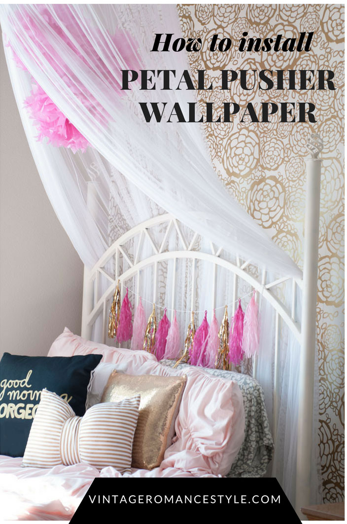 How to Install Petal Pusher Wallpaper // Girly Glam Girl\'s ...