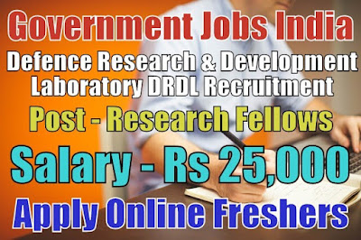 Defence DRDL Recruitment 2019