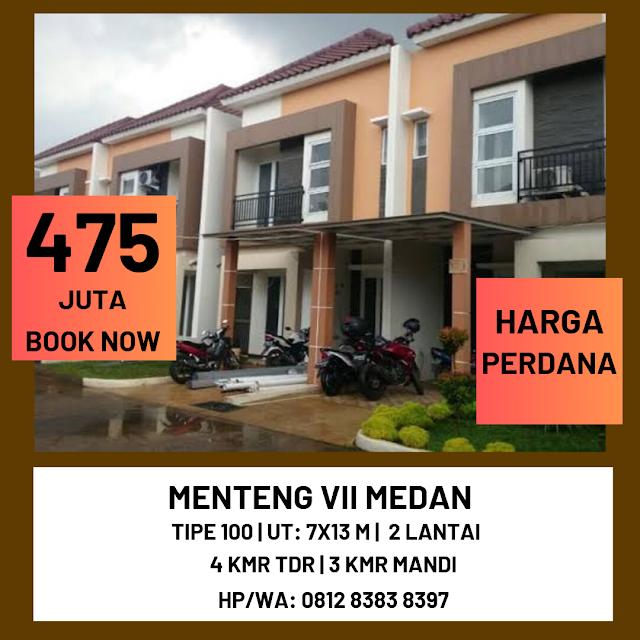 Jual Rumah Murah Harga Perdana Aries Village Hanya 475 Juta Di Menteng 7 Medan Sumatera Utara