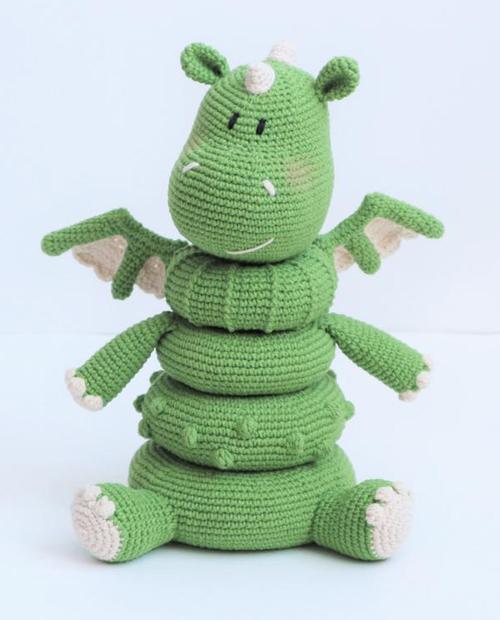 Amigurumi Dragon Toy for Baby - Crochet Pattern