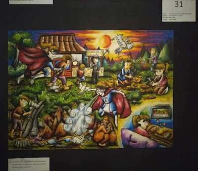 contoh gambar cerita tema lingkungan