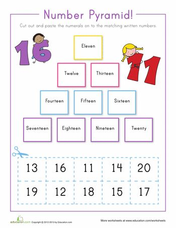 Number Activities for Preschool Free Printables