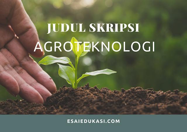 1000 judul skripsi agroteknologi