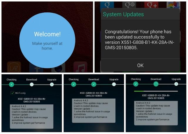 Update Android KitKat 4.4.2 ke versi terbaru melalui OTA
