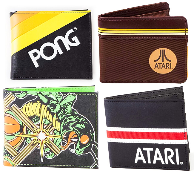 JUL 25 2021 - ATARI RETRO GAMING WALLETS and Pouches. Store your cards and cash retro style.