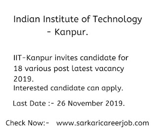 iit kanpur recruitment 18 various posts government job vacancies.