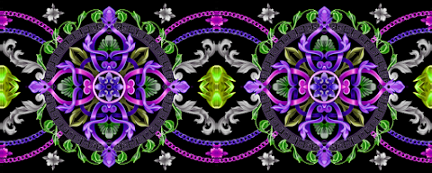 Textile Design Border Multi Colour Art