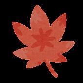 秋のマーク「もみじ」