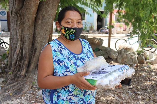 Pollo y huevo para 150 mil familias de las comisarías y zonas vulnerables de Mérida