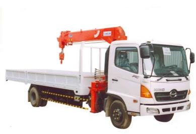 truk hino ranger crane 7 ton surabaya