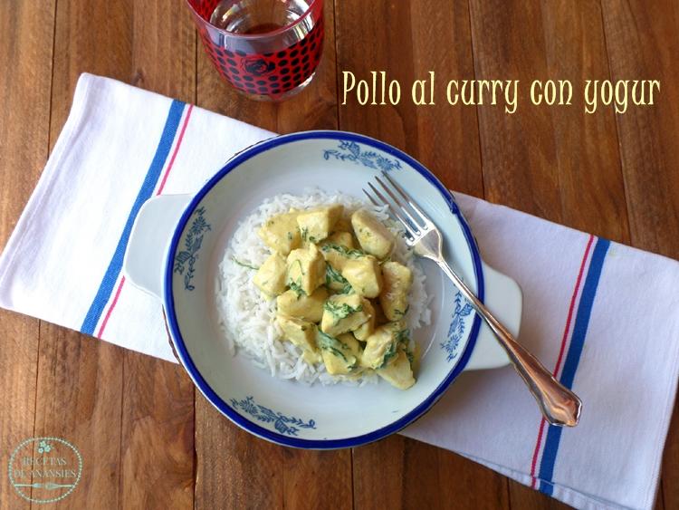 Pollo al curry con yogur y arroz basmati