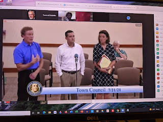 Franklin, MA Town Council Meeting - audio recording of 07/21/21 - three parts