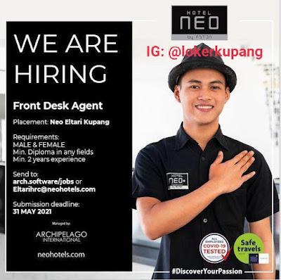 Lowongan Kerja Hotel Neo Eltari Kupang sebagai Front Desk Agent