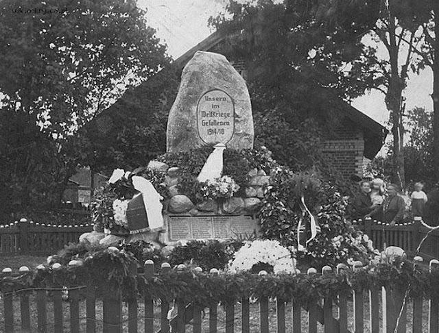 Pomnik z pierwszej wojny światowej w Rusi
