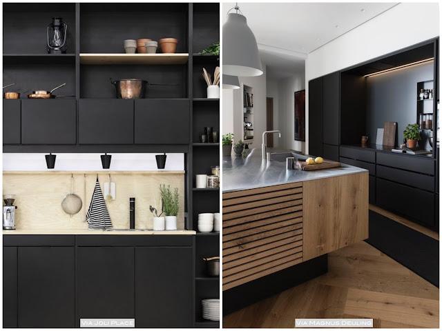 cozinha planejada preta