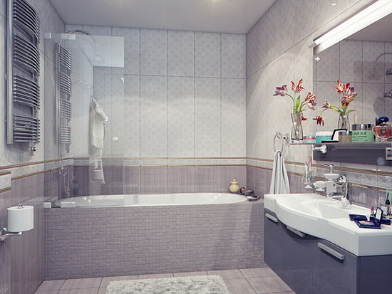 +55 Modern small bathroom design makeover ideas 2019 on Small Bathroom Remodel Ideas 2019  id=74667