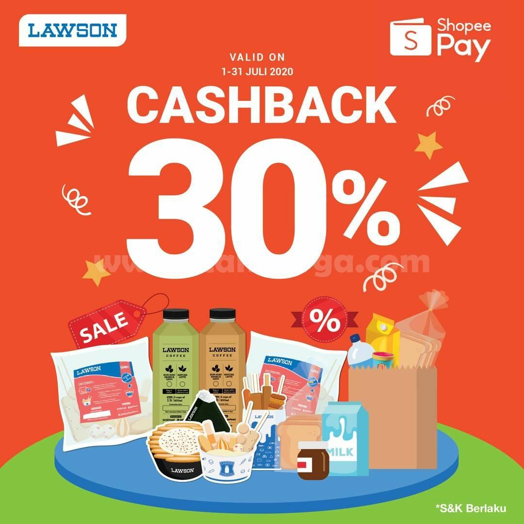 LAWSON Promo Cashback 30% Transaksi Dengan ShopeePay
