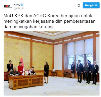 MoU KPK dan ACRC Korea
