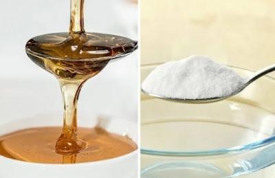 bienfaits du bicarbonate mélangé au miel