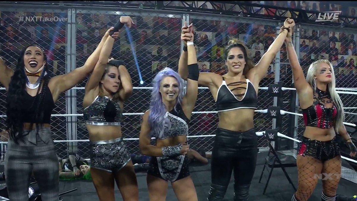 Equipe de Candice LeRae vence no NXT TakeOver: WarGames em final brutal