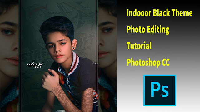 Indoor High-End Gold Black Skin Color Grading | Photoshop Dark Gold Skin Retouching Tutorial