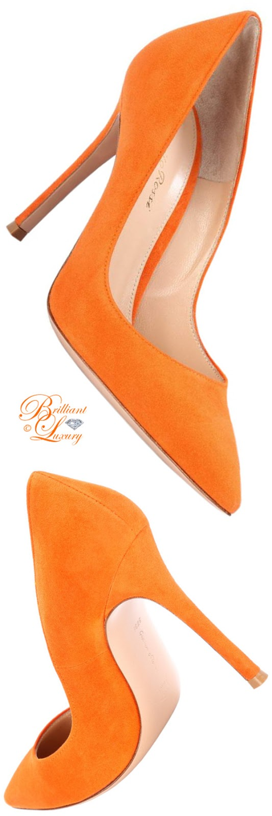 Brilliant Luxury ♦ Gianvito Rossi Gianvito pumps #orange