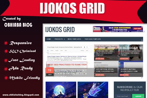 Ijokos Grid Blogger Template