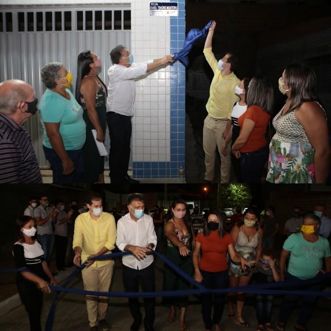 Prefeitura inaugurou primeiro calçamento pavimentado com piso intertravado de Afogados da Ingazeira