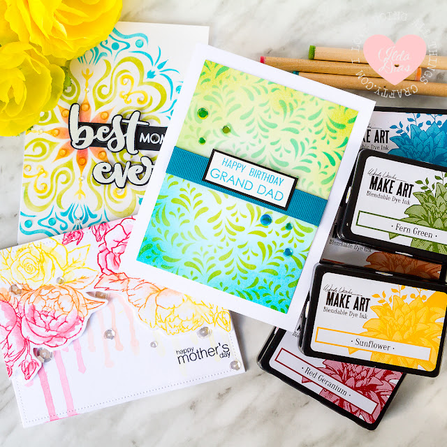 Getting Inky with Wendy Vecchi's Make Art Blendable Dye Inks and Studio Katia Products by ilovedoingallthingscrafty