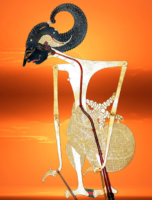 Gambar wayang Raden Arjuna atau Janaka