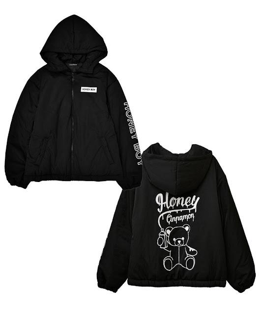 black jacket from honey cinnamon