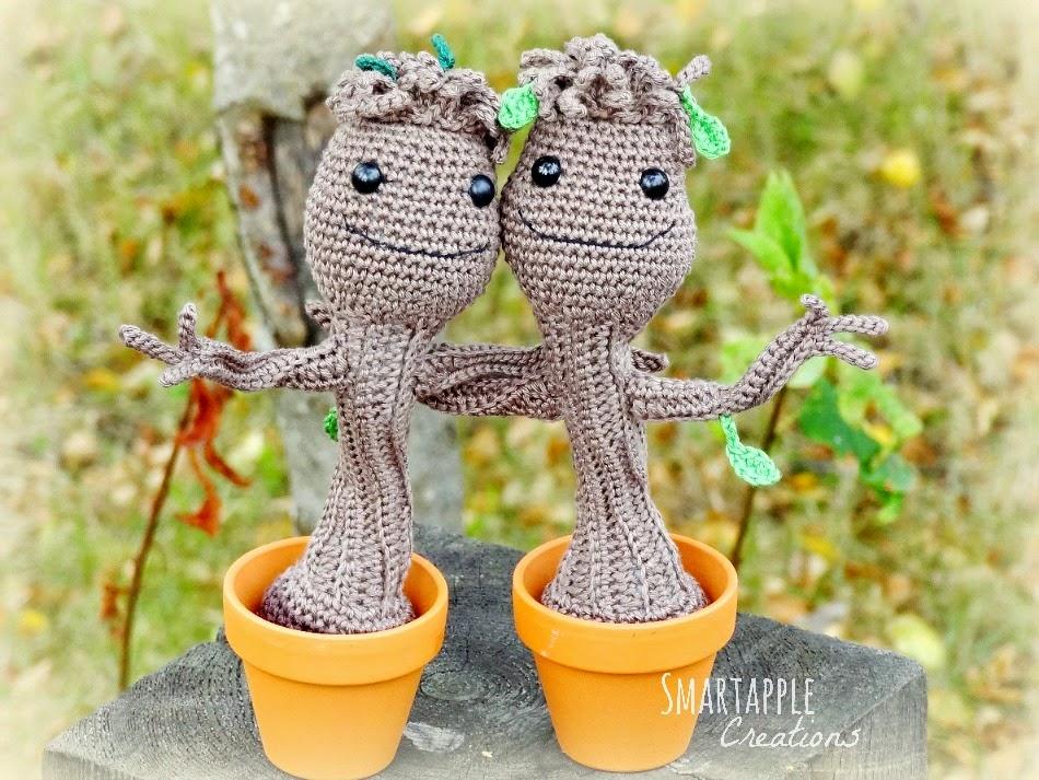 GROOT BEBE Amigurumi Guardianes de la Galaxia Tutorial Crochet ... | 713x950