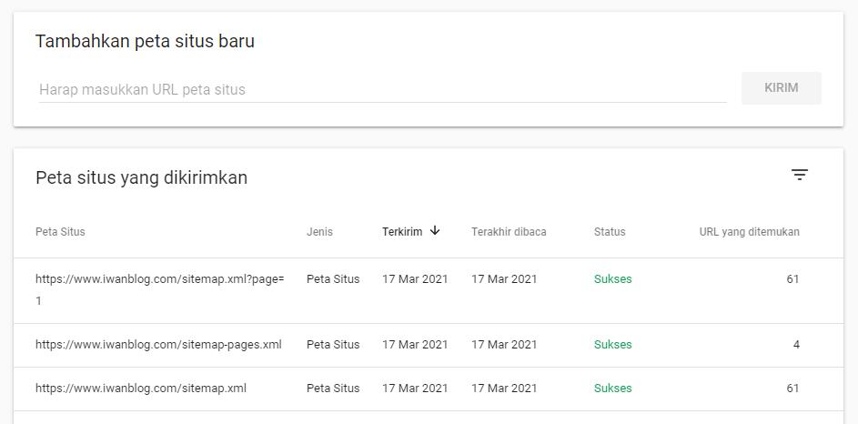 Cara Terbaru Submit Sitemap (Peta Situs) di Google Search Console (GSC)