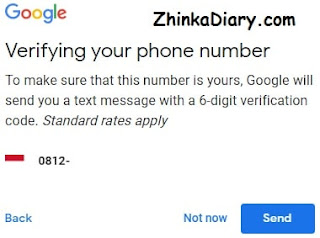 Verifying your phone number - Gmail