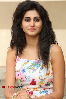 Actress Shamili Stills in Floral Short Dress at Sree Ramaraksha Song Launch 0129