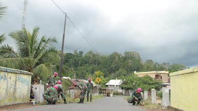 Aksi Peduli Lingkungan Prajurit Yonmarhanlan VIII Bitung, di Apresiasi Warga Likupang Minut