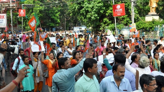 2 injured by police firing in Bankura ehile chanting Jai Shri Ram claims BJP