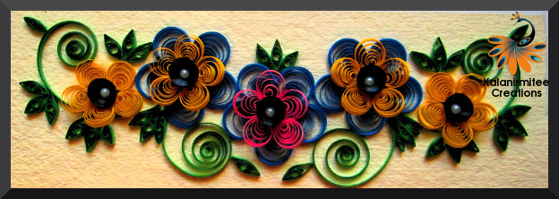 kalanirmitee: paper quilling- quilled project-quilled flowers-quilled eccentric coils- quilling ideas