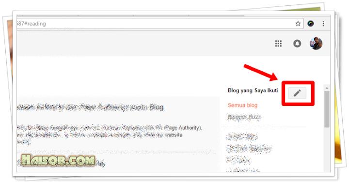 Langkah 2 Cara Follow Blog di Blogger Tampilan Terbaru