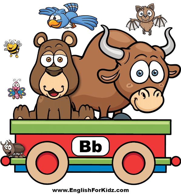 English alphabet decoration for classroom - letter B