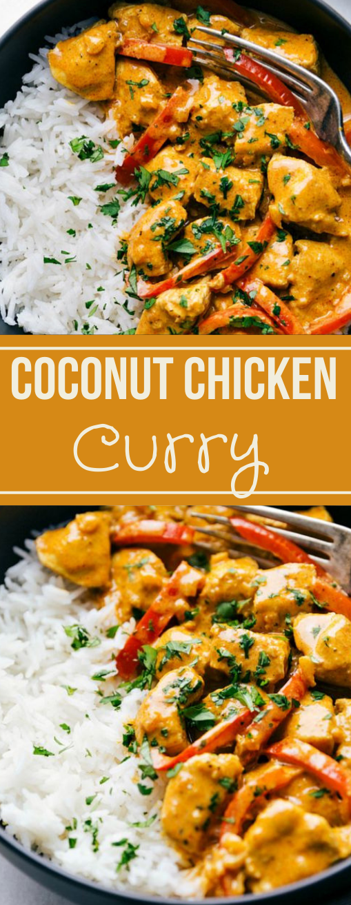 COCONUT CURRY CHICKEN #chicken #dinner #coconut #curry #recipes