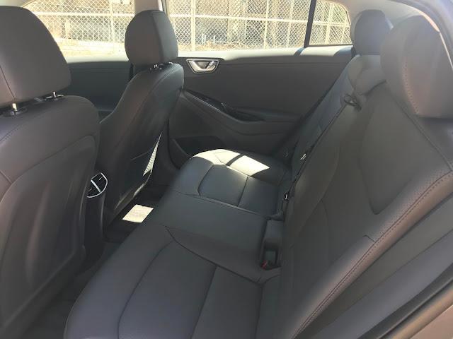 Rear seat in 2020 Hyundai Ioniq HEV Limited