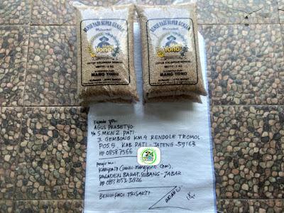 Benih padi yang dibeli AGUS PRASETYO Pati, Jateng. (Sebelum packing karung ).