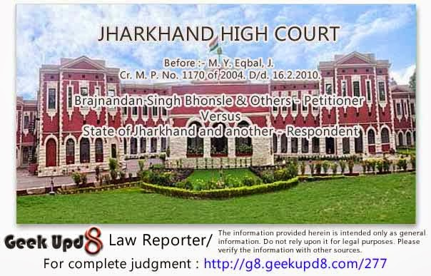 Jharkhand High Court - Police report regarding the presence of petitioner on the date in question at the site of occurrence found to be false because the documents produced show that the petitioner was in Australia during that period - Filing of criminal case is an abuse of process of the Court - Entire criminal proceedings and the impugned order of cognizance quashed