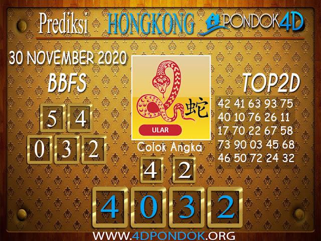 Prediksi Togel HONGKONG PONDOK4D 30 NOVEMBER 2020