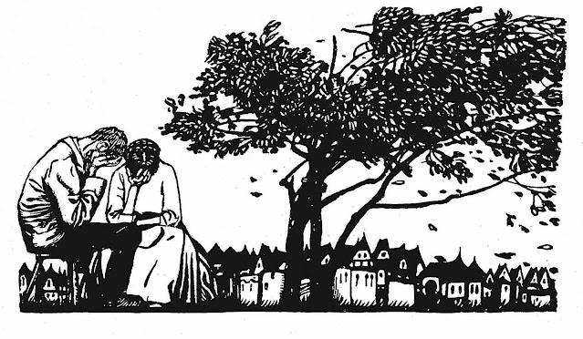Carl Otto Czeschka 1905, a weeping couple